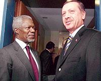 Erdoğan, Annan'la görüşecek