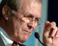 Rumsfeld'in sürpriz ziyareti