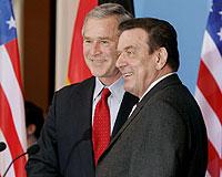 Bush Almanya'dan destek aldı, Hatemi meydan okudu