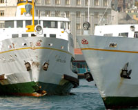 İstanbul'da yolcu vapuru kazası